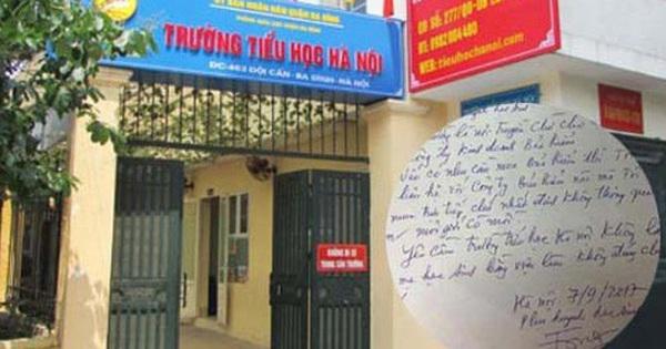Phụ huynh viết chằng chịt ý kiến trên tờ thông báo đóng bảo hiểm Y tế của trường Tiểu học Hà Nội gây tranh cãi