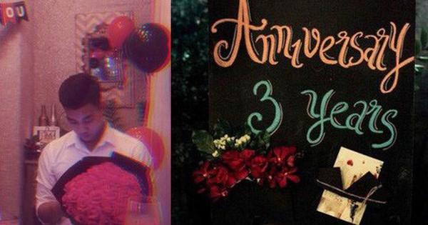 Văn Thanh U23 kỷ niệm 3 năm yêu hoành tráng với bạn gái xinh đẹp