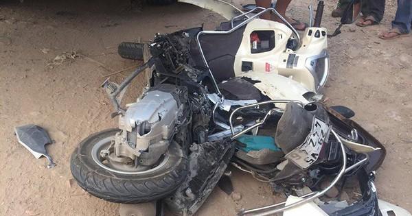 Điểm mù xe tải và khoảnh khắc thoát nạn may mắn tới khó tin của người phụ nữ đi xe máy