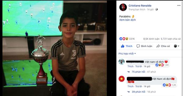 """Vào trang cá nhân của Ronaldo, CDM Việt đặt câu hỏi: """"Anh có biết Quang Hải không?"""""""