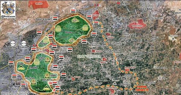 """Nga yểm trợ """"Hổ Syria"""" tấn công dữ dội Đông Ghouta, hàng chục nghìn người dân di tản ra vùng giải phóng"""