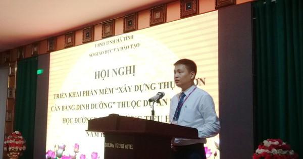 Triển khai Phần mềm Xây dựng Thực đơn Cân bằng Dinh dưỡng cho học sinh bán trú tại Hà Tĩnh