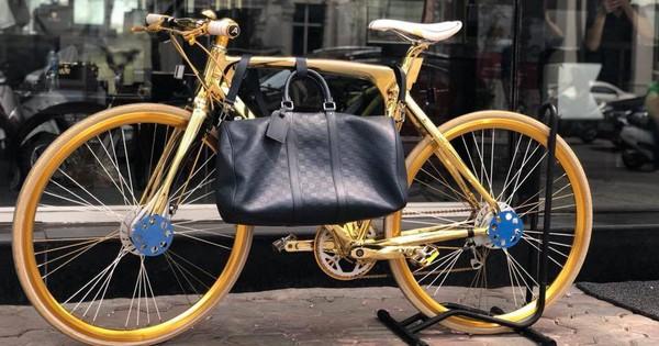 Cận cảnh xe đạp mạ vàng phiên bản giới hạn cực độc, giá 1,2 tỷ đồng tại Hà Nội