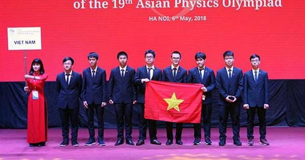Việt Nam giành 4 Huy chương Vàng Olympic Vật lí châu Á năm 2018