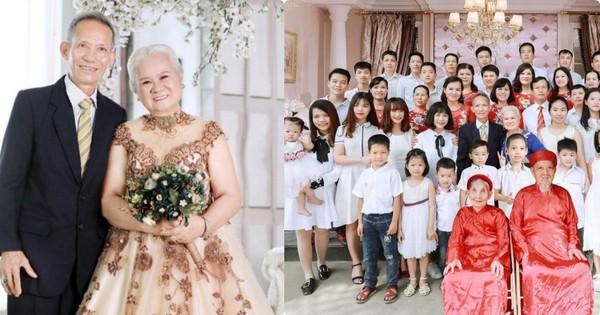 Bức ảnh mặc váy cưới đầu tiên sau 50 năm của bà ngoại và bộ hình 5 thế hệ trong gia đình