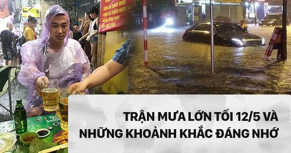 [PHOTO STORY] 10 hình ảnh ấn tượng nhất tại Hà Nội trong cơn mưa lớn tối 12/5