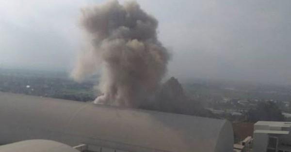 Nổ như bom tại Nhà máy xi măng Xuân Thành