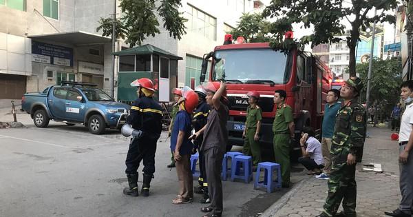 Hà Nội: Đang cháy ở toà nhà CT3, khu chung cư Bắc Hà