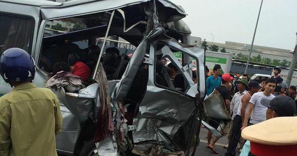 Xe tải đâm xe khách khiến 2 người chết, 6 người bị thương