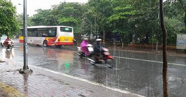 Thời tiết ngày 15/6: Miền Bắc có mưa rào và dông, trời dịu mát