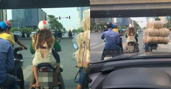 """Hình ảnh """"nhức mắt"""" trên phố khiến người ta tự hỏi mẫu váy như vậy hay cô gái quên kéo khoá?"""