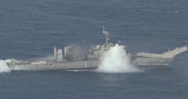 Mỹ – Nhật – Úc tập trận đánh chìm tàu giữa lúc căng thẳng với Trung Quốc