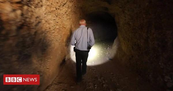 Video: Bên trong đường hầm hun hút sâu của phiến quân ở Syria