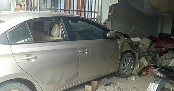 Nữ tài xế đâm xe thẳng vào nhà dân, 1 người chết, 1 bị thương