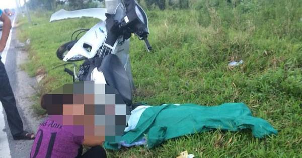 Tông xe máy vào cột đèn cao áp ở Hà Nội, nam thanh niên tử vong tại chỗ