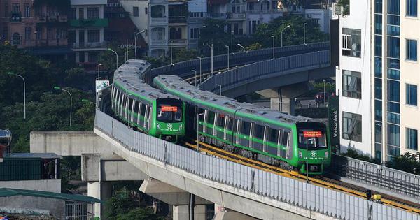 Đường sắt Cát Linh-Hà Đông đã chính thức chạy thử 5 tàu trong sáng nay