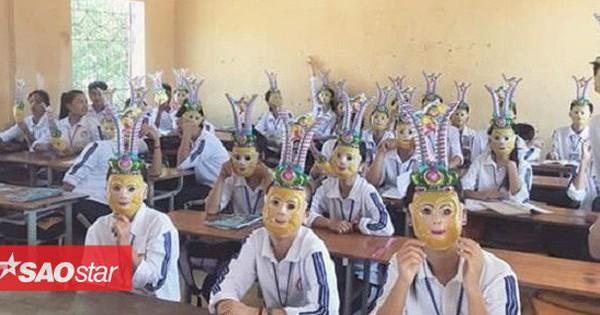 Cả lớp cùng đeo mặt nạ Tề Thiên Đại Thánh đón Trung thu, dân mạng đồng loạt khen ngợi 'ôi, lớp người ta'