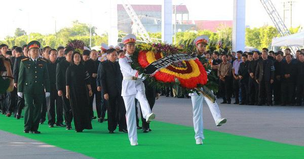 Hình ảnh lễ viếng Chủ tịch nước Trần Đại Quang tại quê nhà
