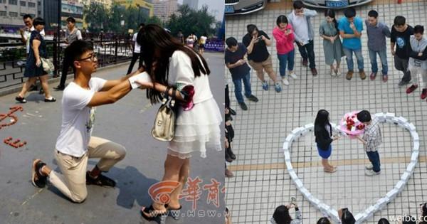 Những màn cầu hôn công phu ngay giữa chốn đông người nhưng gặp phải cái kết gây hụt hẫng