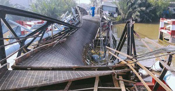 Vụ sập cầu Long Kiển ở Sài Gòn: Công an tạm giữ tài xế xe tải