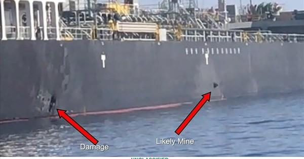 Mỹ tung bằng chứng tố quân tinh nhuệ Iran gỡ thủy lôi từ tàu dầu vịnh Oman