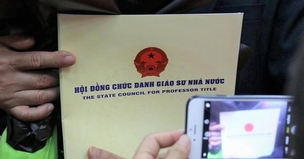 Công bố thành viên Hội đồng giáo sư Nhà nước