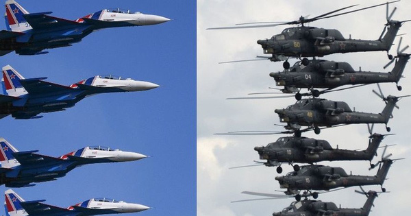 """Dàn máy bay chiến đấu Nga trình diễn """"ballet trên không"""" ở Army-2019"""