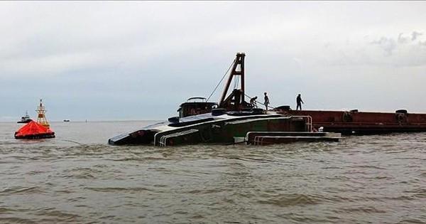 Tàu chìm trên sông Gò Gia, thuyền trưởng mất tích