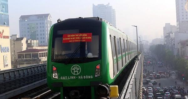 Hà Nội dự kiến chi hơn 14 tỷ đồng trợ giá đường sắt Cát Linh – Hà Đông mỗi năm