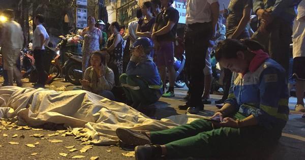 """""""Xe điên"""" tông liên hoàn ở Hà Nội: Con trai gào khóc bên thi thể nữ công nhân môi trường"""