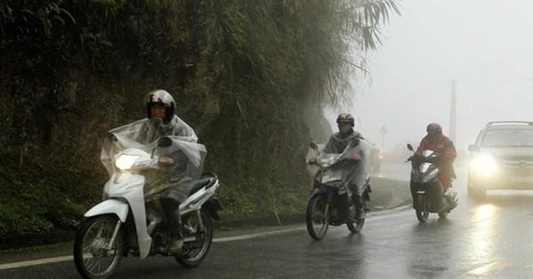 Khu Tây Bắc, Việt Bắc có nơi mưa to đến rất to, nguy cơ cao sạt lở đất