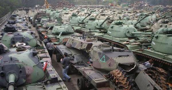 [ẢNH] Tiếc nuối số lượng cực lớn xe tăng Đài Loan bị rã làm sắt vụn