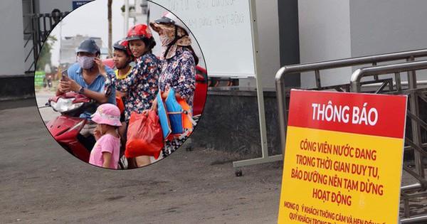 Công viên nước Thanh Hà tạm dừng hoạt động sau sự cố bé trai đuối nước, nhiều gia đình từ xa đến đành quay về