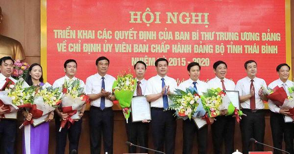 Ban Bí thư chỉ định 8 Tỉnh uỷ viên tỉnh uỷ Thái Bình