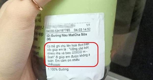 Order trà sữa qua mạng để an ủi bạn, cô gái giật mình vì nhân viên in toàn bộ đoạn chat lên cốc