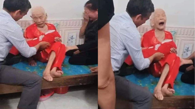 Xúc động cảnh Mẹ Việt Nam anh hùng 110 tuổi khóc nức nở khi đón nhận hài cốt con là liệt sỹ
