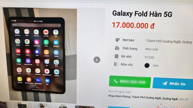 Galaxy Fold rao bán đầy trên mạng, mất nửa giá chỉ sau một năm