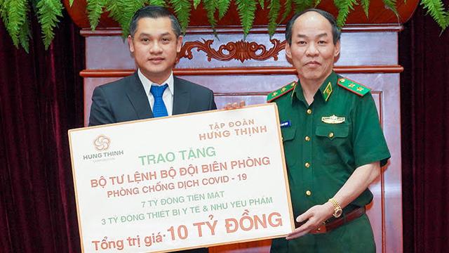 Tập đoàn Hưng Thịnh tặng Bộ Tư lệnh Bộ đội Biên phòng 10 tỷ đồng hỗ trợ phòng chống Covid-19