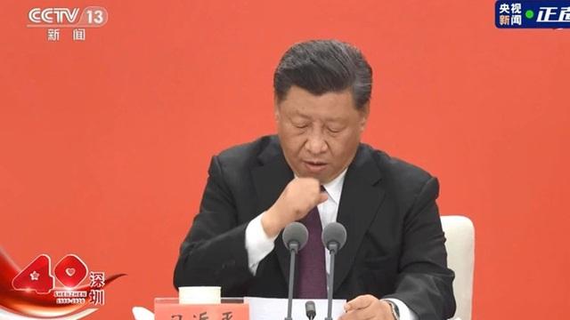 """Truyền thông Đài Loan đưa tin ông Tập Cận Bình """"ho dữ dội"""" trên sóng trực tiếp ở Thâm Quyến"""