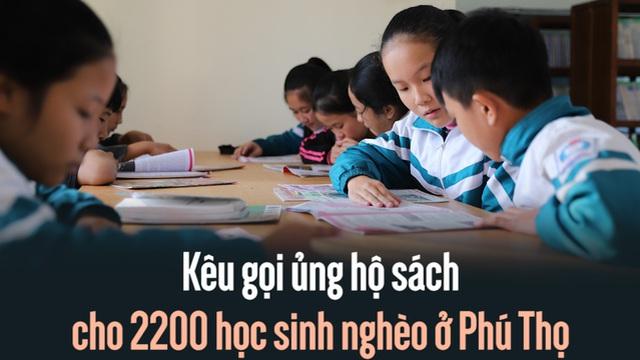 Chung tay ủng hộ sách cho 2200 học sinh nghèo ở Phú Thọ