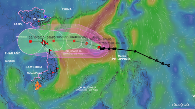 Bão số 8 đi chậm, sẽ suy yếu dần thành áp thấp nhiệt đới, ảnh hưởng từ Nghệ An - Quảng Trị