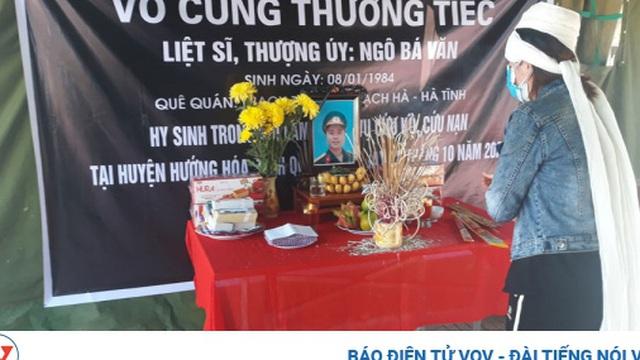 Vợ liệt sỹ Đoàn 337 nén đau thương chịu tang chồng tại khu cách ly