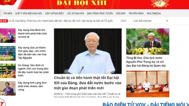 Khai trương trang tin chính thức về Đại hội Đảng lần thứ XIII