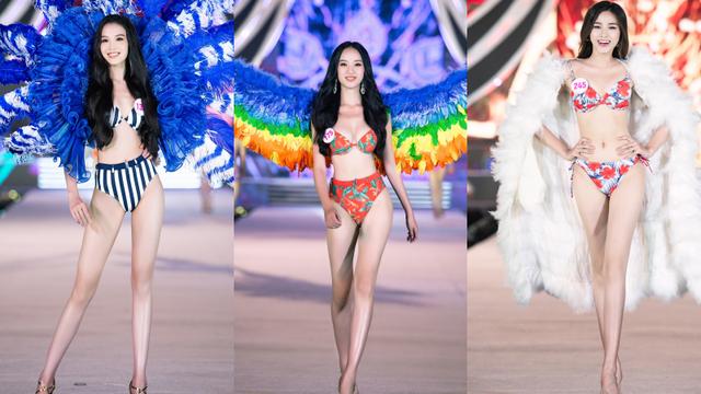 Cận cảnh màn diễn bikini bốc lửa của các thí sinh đẹp nhất Hoa hậu VN