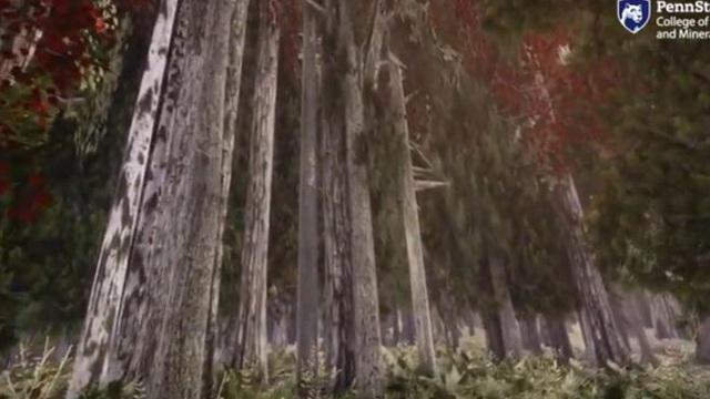 Khu rừng thực tế ảo mô phỏng chân thực tác động của biến đổi khí hậu