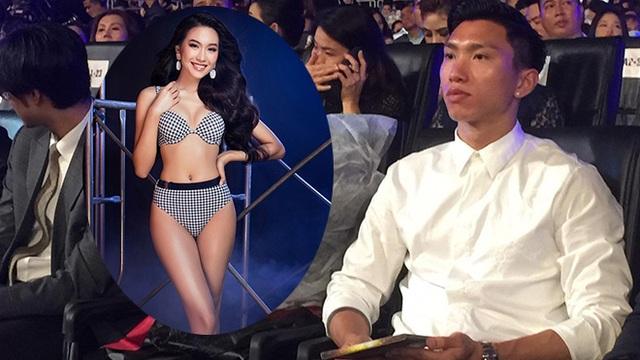 """Đoàn Văn Hậu lạnh lùng xuất hiện, cổ vũ """"bạn gái"""" thi chung kết Hoa hậu Việt Nam?"""