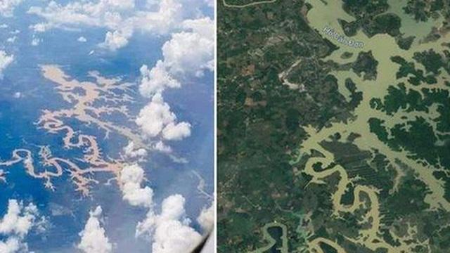 Dân mạng thi nhau tìm kiếm dòng sông ở Việt Nam nhìn như chú rồng khổng lồ trên Google Maps