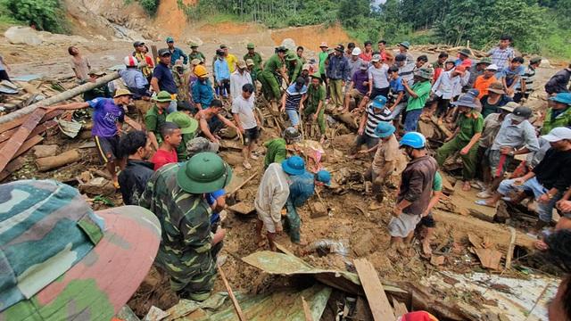 Tìm thấy thêm 1 thi thể ở Trà Leng, cách xa hiện trường hơn 3km