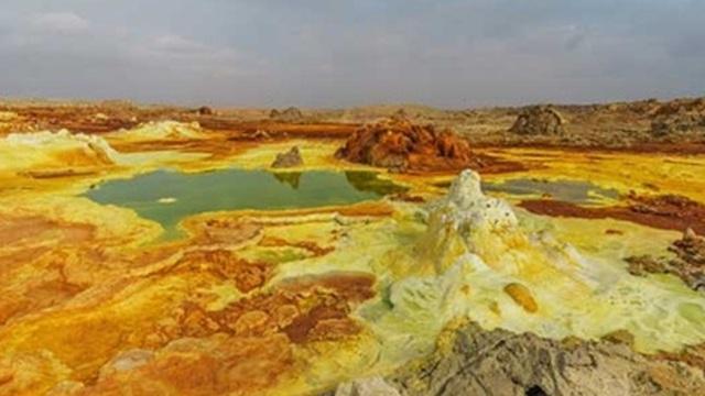 Cánh đồng địa nhiệt Dallol: Vẻ đẹp của tử thần