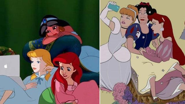 Bộ ảnh các nhân vật Disney thời 4.0 gây sốt mạng xã hội